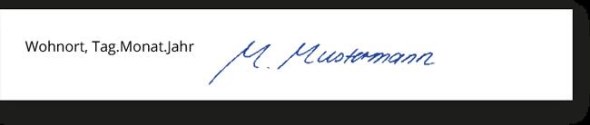 lebenslauf unterschrift - Lebenslauf Unterschreiben