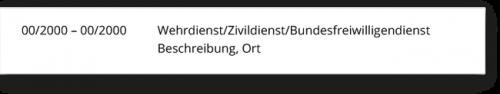 Lebenslauf Zivildienst Bundeswehr Wehrdienst