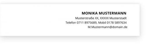 Lebenslauf Kopfzeile Monika