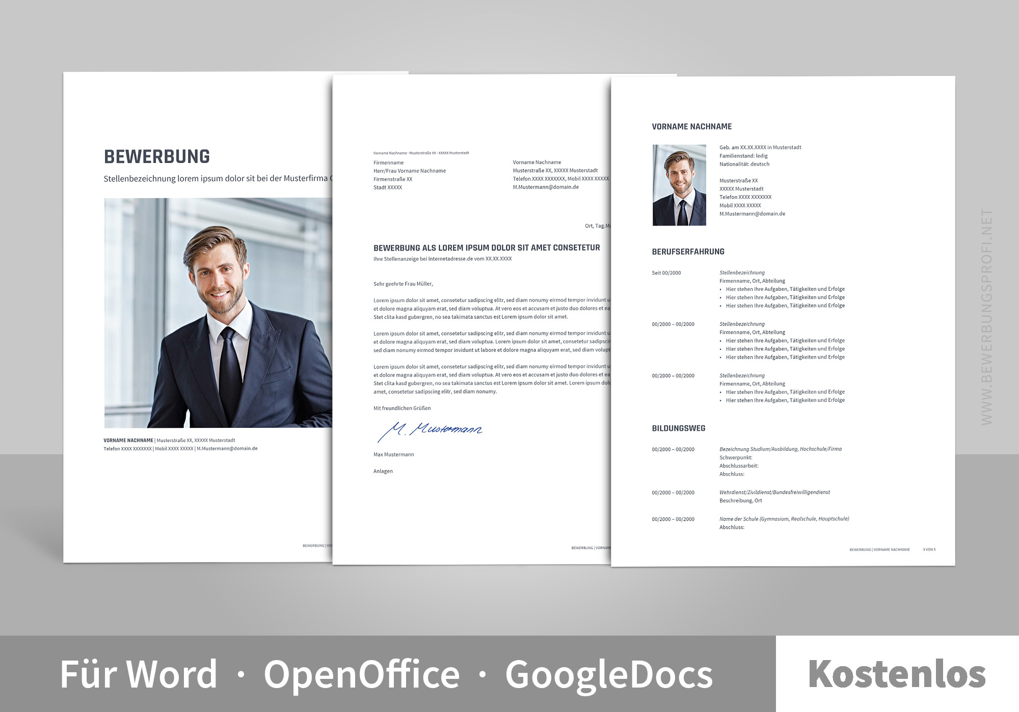 bewerbung muster vorlage libero - Open Office Lebenslauf Vorlage