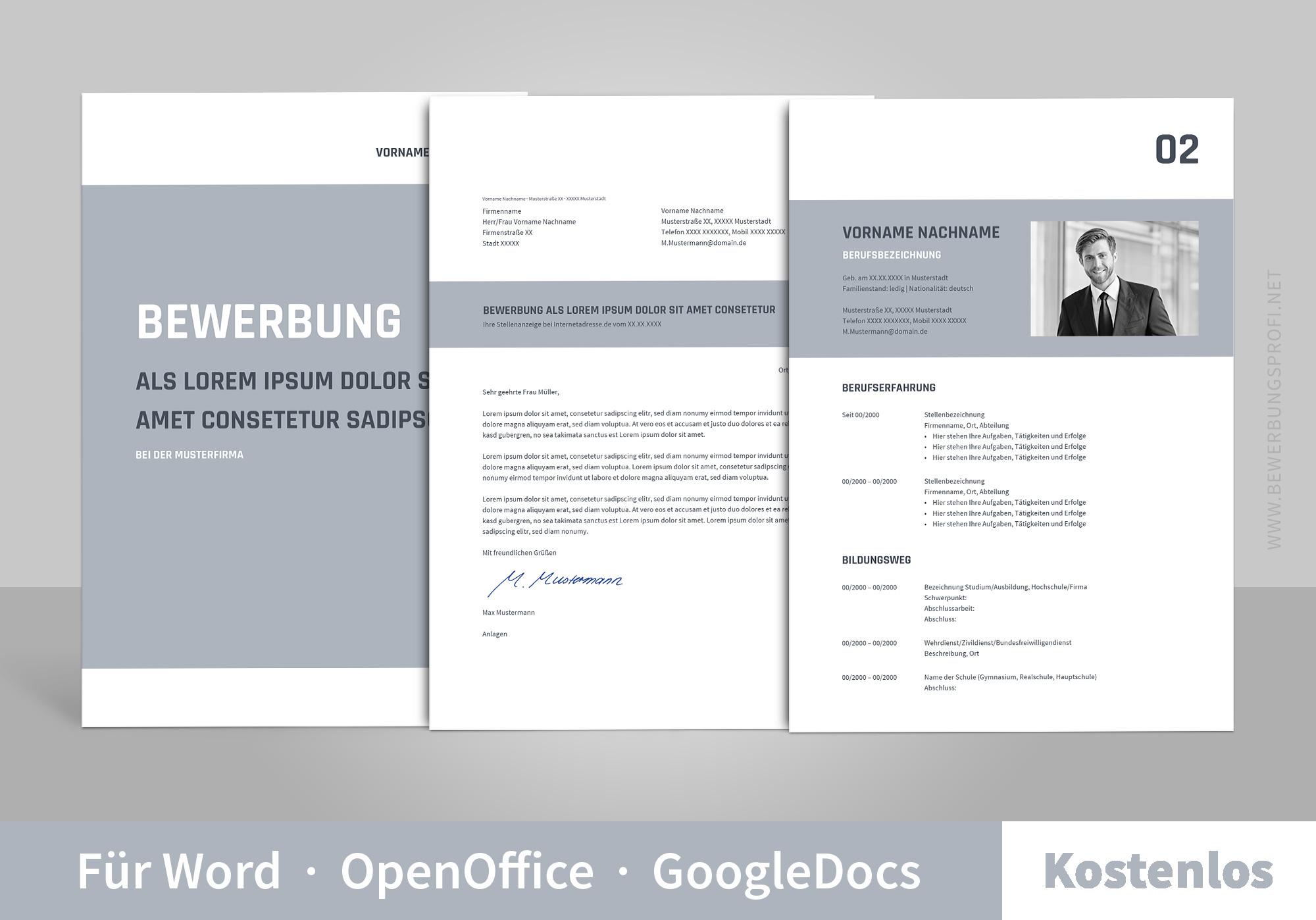 Bewerbung: Muster & Vorlagen - BEWERBUNGSPROFI.NET