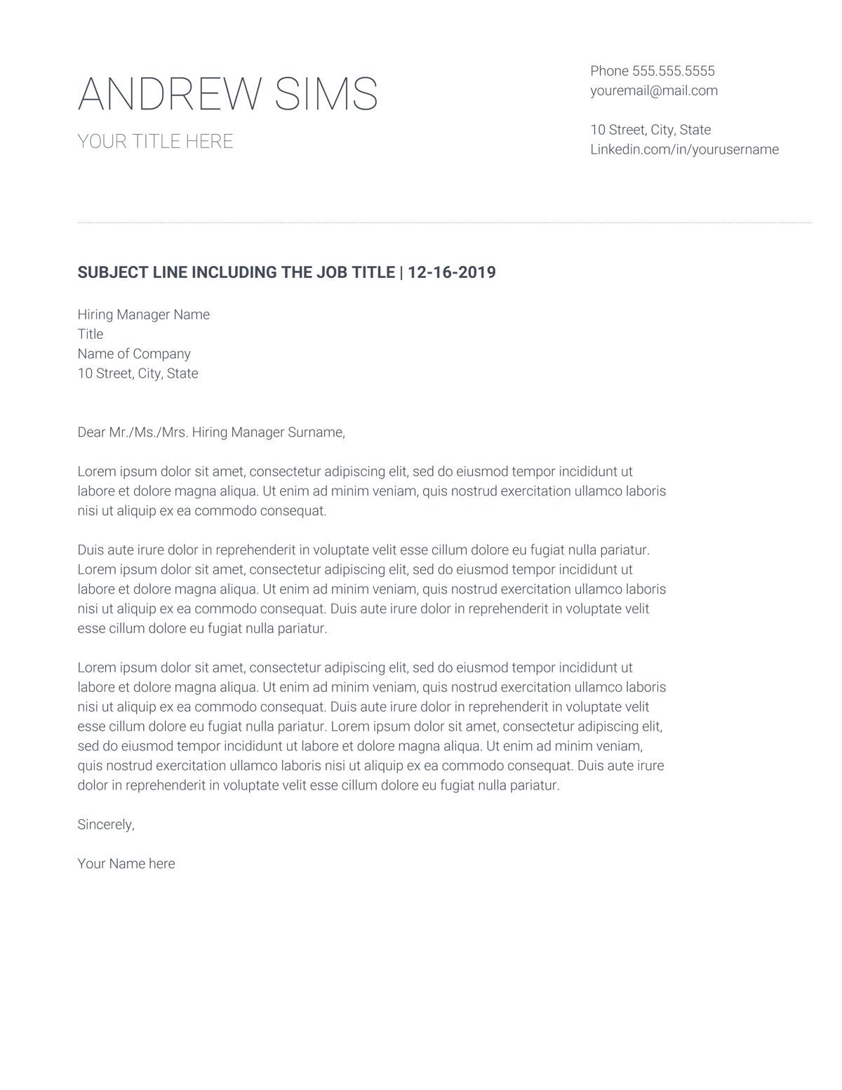 Google Docs Cover Letter Template from www.bewerbungsprofi.net